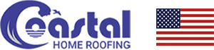 Coastal Home Roofing Logo with flag